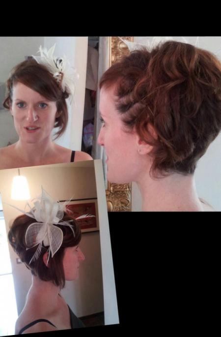 Coiffure de mariage sur un cheveux court